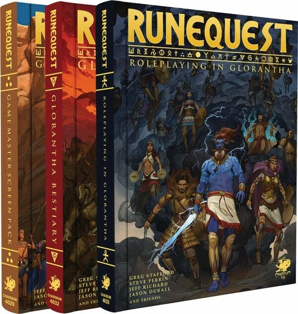 CHA4028-X Chaosium correreeQuest RPG  Roleplaying in Glorantha Deluxe Slipcase  Set  all'ingrosso a buon mercato