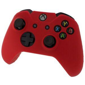 Xbox-Controlador-De-Piel-Rojo-ONE-Funda-Cubierta-de-Silicona-Gel-de-goma-protectora