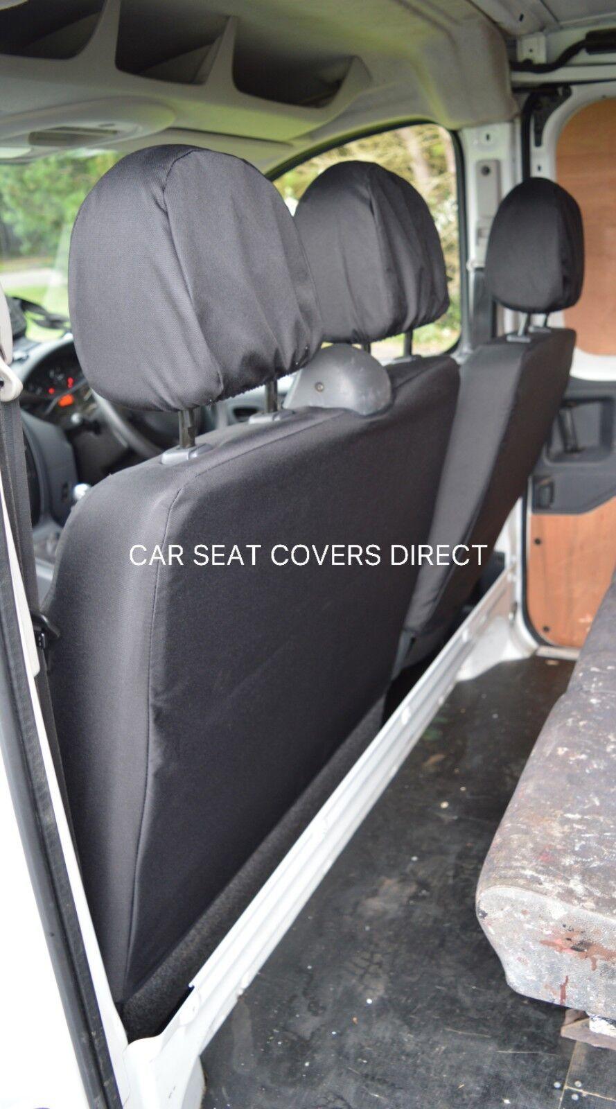 96-06 Double HEAVY Duty LEATHERETTE Van SEAT Covers Single Fiat Scudo