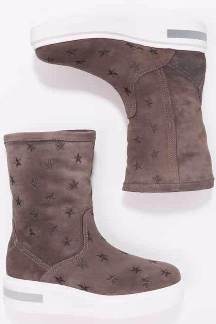 Kanna Mireya Star botas De Nieve, Nieve, Nieve, gris, Piel Forrada. 5 38 7683b5