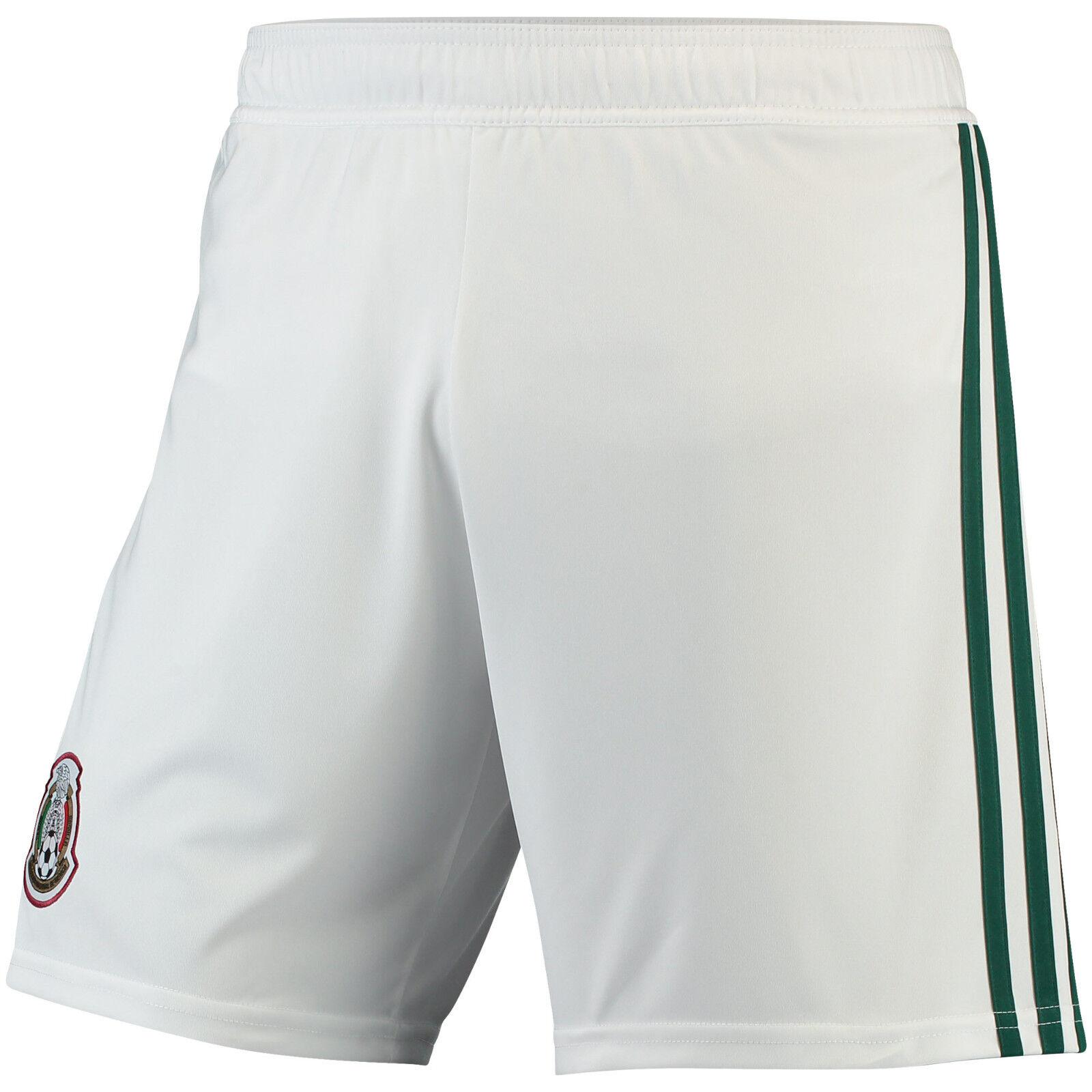 Short de soccer adidas Mexico World Cup 2018 pour le football à domicile blanc / vert neuf