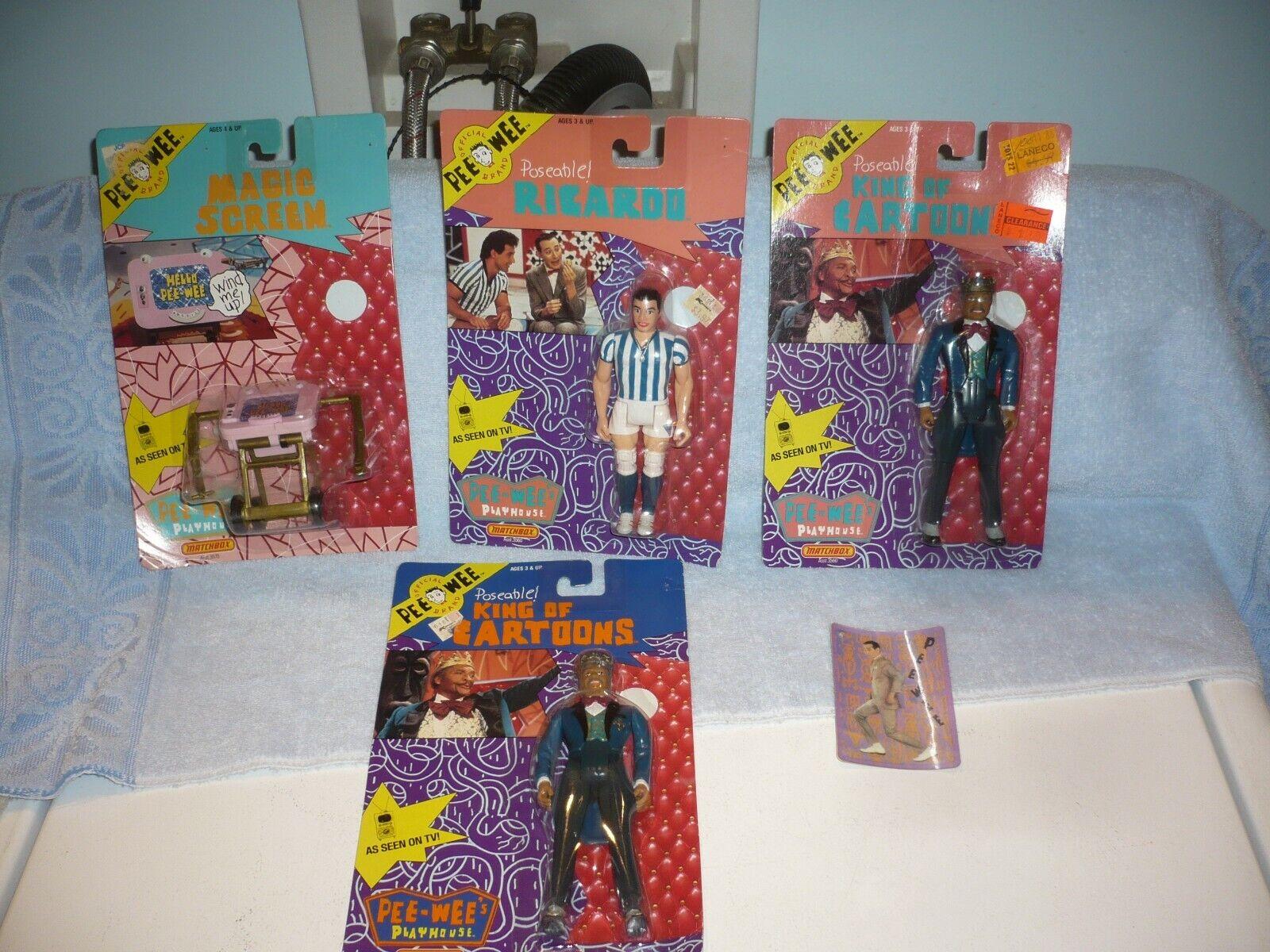 1988 Matchbox Pee Wee Herman King Of Cartoons Figures ricardo magic screen fre