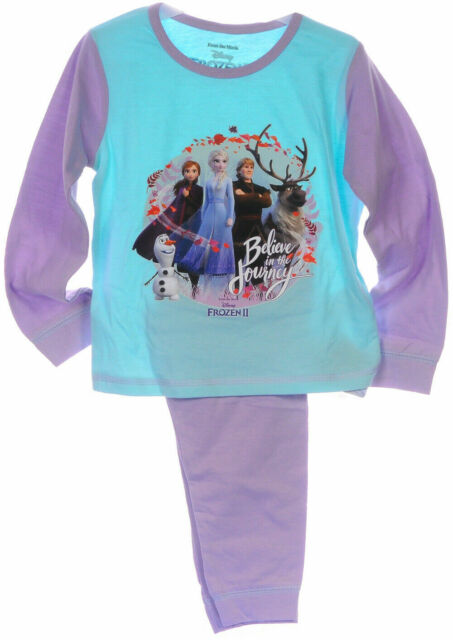 Schlafanzug Kinder Pyjama 86 92 98 104 FROZEN Disney Eiskönigin Anzug Anna Elsa