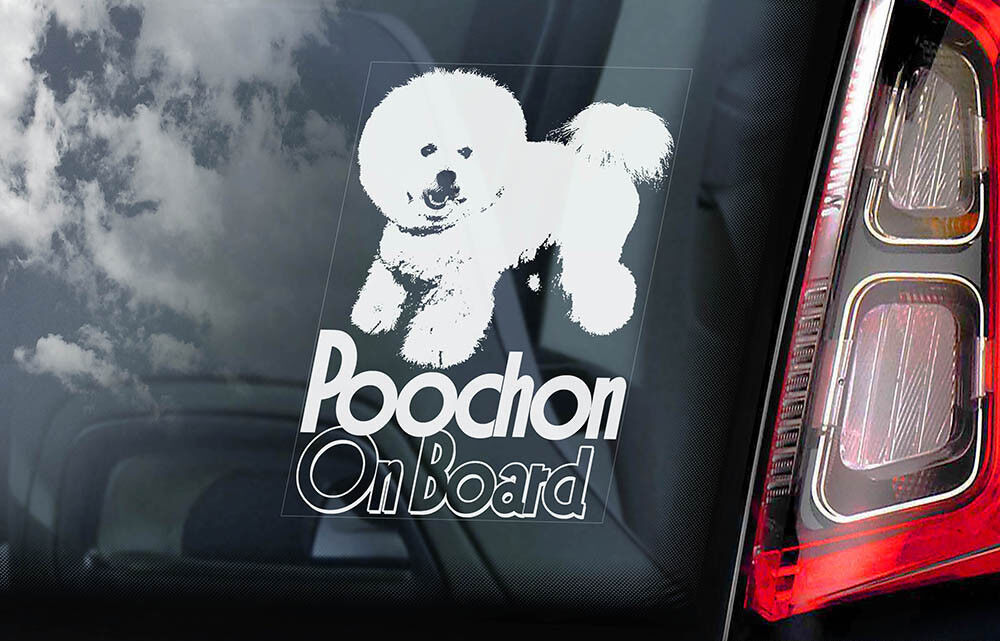 Miniature Schnauzer on Board V01 Zwerg Dog Sign Decal Car Window Sticker