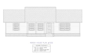 Details about Ranch House Plans 1500 SF 3 Bed 2 Bath Open Floor - Split  Bedrooms (Blueprints)