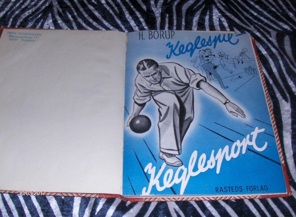 KEGLESPIL - KEGLESPORT fra 1945 + KIFA NÅL, H. BORUP, emne: