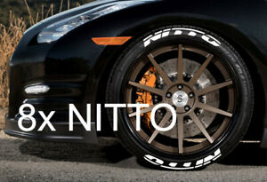 Nitto Tires With White Lettering >> Details About Nitto Tire Stickers Decal