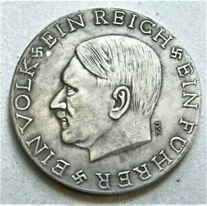 WW2-GERMAN-COMMEMORATIVE-LARGE-COLLECTORS-COIN-REICHSMARK