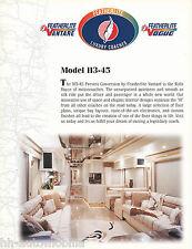 Prospekt brochure Featherlite Vantaré H3-45 motorcoach motorhome Reisemobil 2000