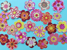 Hot bright coloured flowers to make Cardmaking embellishments kit inc.Stampin Up