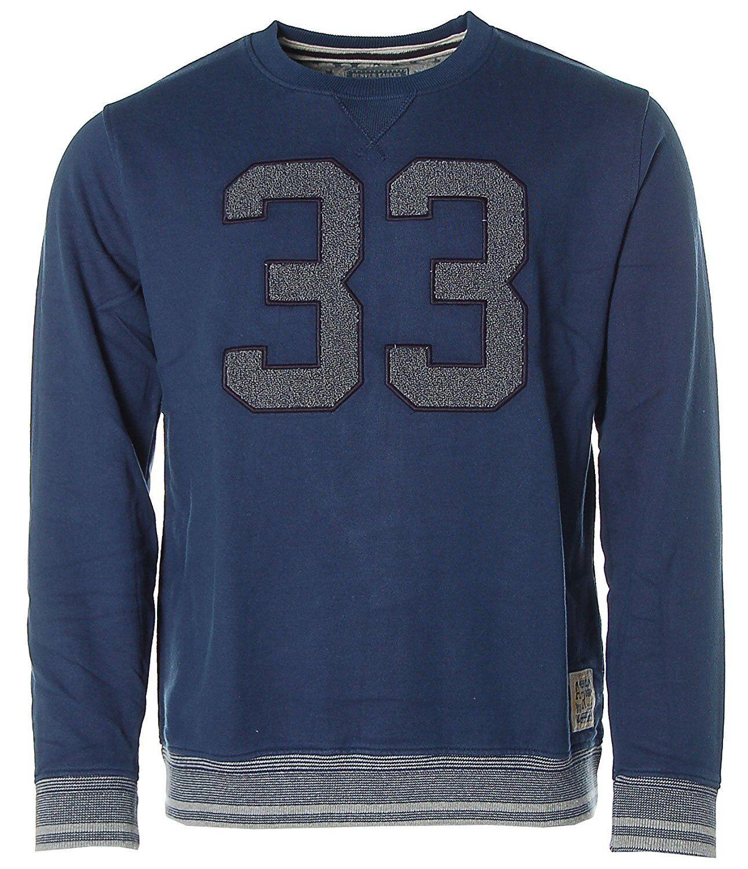 K7569 Kitaro Herren Sweatshirt Sweater Rundhals -American Rugby 33- Blau M
