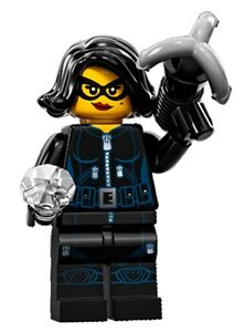 LEGO Minifigures Series 15 Jewel Thief with gem and grappling hook suit city set