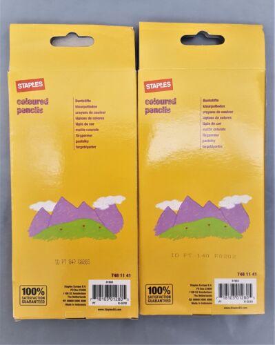 Grapas De Color Colorante Lápices 2x12/'s Lápices Childrens favorito