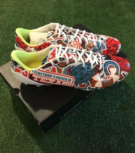 Under Armour Spotlight Limited Edition TEXAS Football Cleats 1290956-296 Sz 13