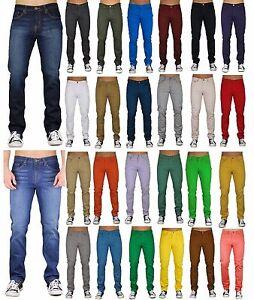 Mens Jeans Skinny Slim Fit Denim Trousers Casual Straight Pants Made in LA