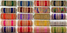 Indian traditional Ethnic Wedding 48pcs bangles Fashion Jewelry size 2.6 2.8
