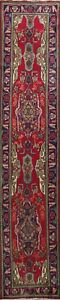 2x11-Vintage-Floral-Traditional-Hand-knotted-Runner-Rug-Staircase-Wool-Oriental