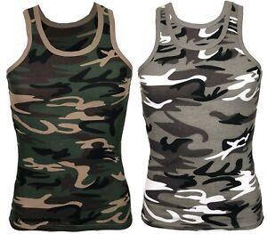Mens Vest Sleeveless Tank Top Summer Training Gym Ribbed BodyBuilding Tops M-2XL
