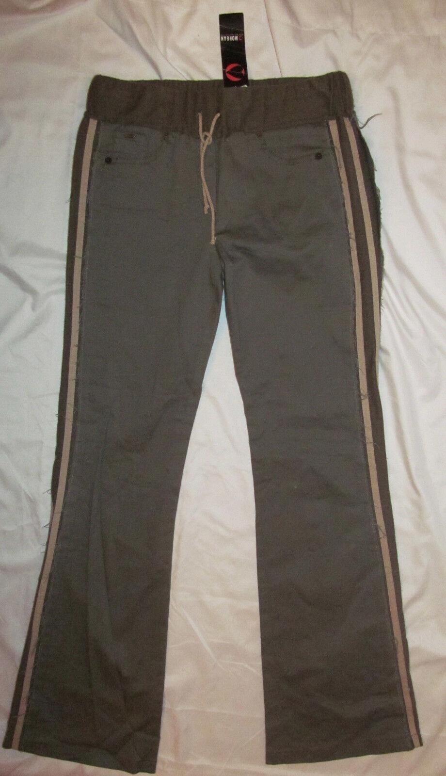 MORGAN DE TOI army green sage sporty  drawstring stertchy pants jeans 42 8 NWT