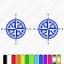 2x-Compass-Caravan-Graphics-Kit-navigation-auto-sleeper-sticker-decals thumbnail 3