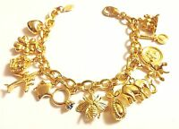 Joan Rivers My Favorite Things Charm Bracelet W/ Bee Egg Turtle Heart Star