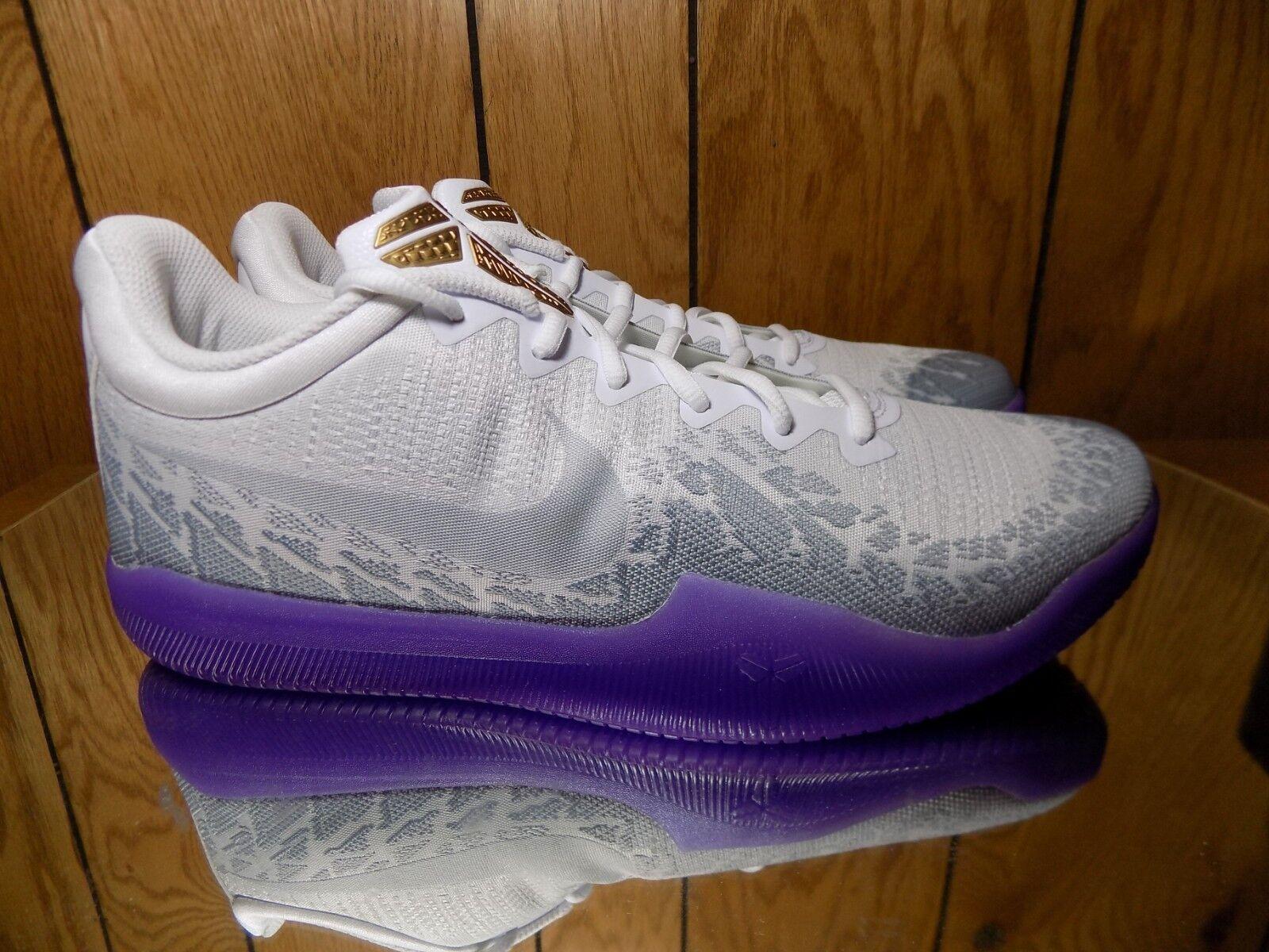 NIKE Mamba Rage Mens 908972-124 s 12 Purple White