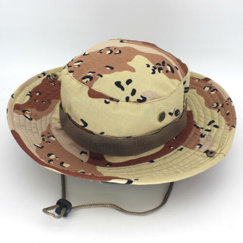Bucket Hat Wide Brim Military Hats Sun Hat Boonie Hunting Fishing Outdoor Cap