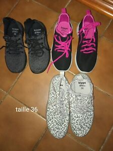 3 paires Baskets chaussures fille taille 36 | eBay