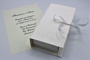 Partecipazioni Matrimonio Scatola.N 10 Partecipazioni Con Scatola E Confetti Ebay