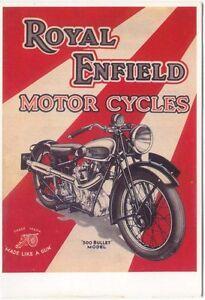 Royal-Enfield-500-Bullet-Modern-colour-postcard-by-Mayfair