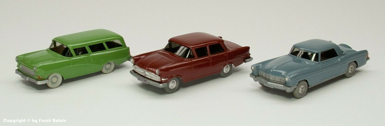 Wiking liasse 3 Voitures Modèles bien 60er Ans (2 Opel + Ford)
