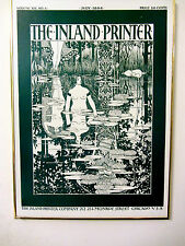 POSTER-THE INLAND PRINTER VOL XIII NO 4 JULY 1894-ART NOUVEAU COVER/FRAMED-NR FN