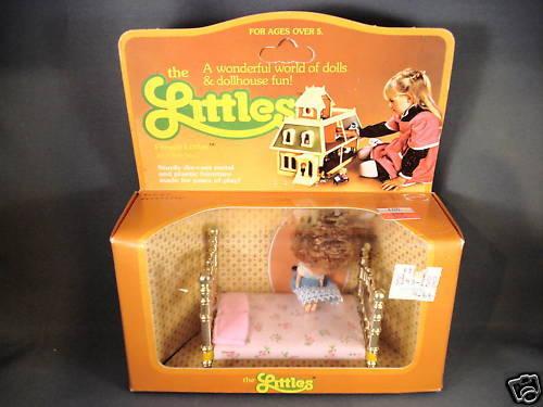 1980 Mattel The Littles Flossie Littles und Bett