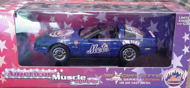 1986 Corvette 'New York Mets' 1 1 1 18 Ertl American Muscle 33461 7034a8