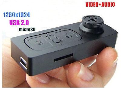 Mini Spy Camera Button Pinhole Hidden DVR Camcorder 30FPS