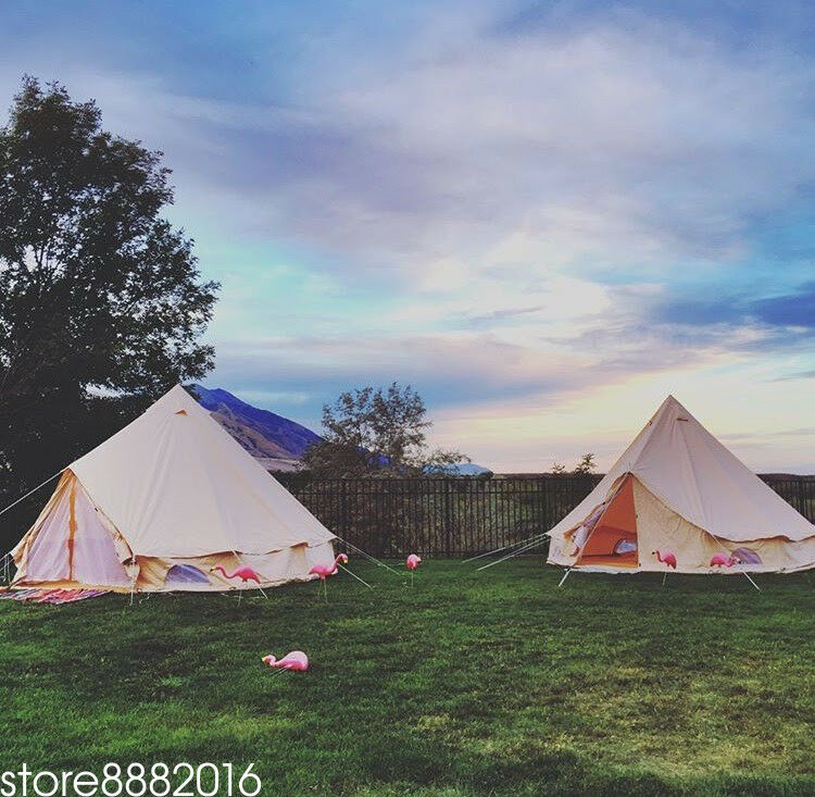 Luxury 5 Meter Bell Tent Outdoor Large Eco Glamping Camping Teepee Renaissance