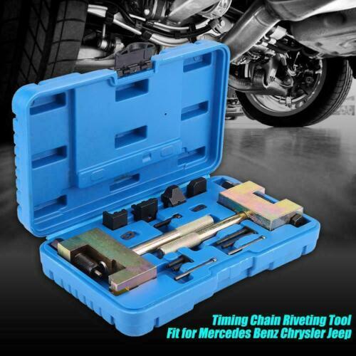 13 tlg Auto Steuerketten Nietwerkzeug Nietgerät Werkzeugsatz für Mercedes-Benz