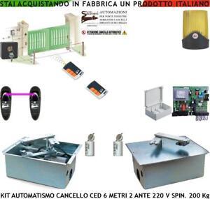 Motori Per Cancelli A Due Ante.Kit Automatismo Motori Interrati Portanti A 220 V 5 Mt Cancello 2