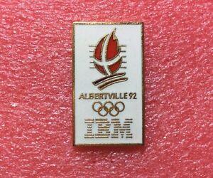 Pins-J-O-ALBERTVILLE-92-Sponsor-IBM-Dore-Jeux-Olympique-Olympic-Games