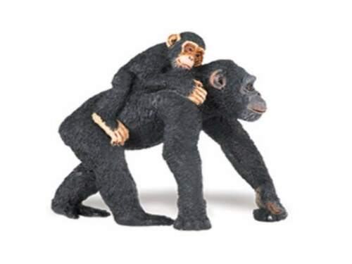 Safari Ltd 295929 Chimpanzee with Baby 2 13//16in Series Wild Animals