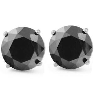 2-1-2ct-Black-Diamond-Studs-Womens-Earrings-14K-White-Gold