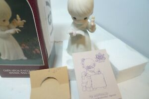 Precious Moments Special 1990 Issue 523836 Once Upon a Holy Night Box Flame