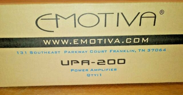 Emotiva UPA-200 Power Amplifier