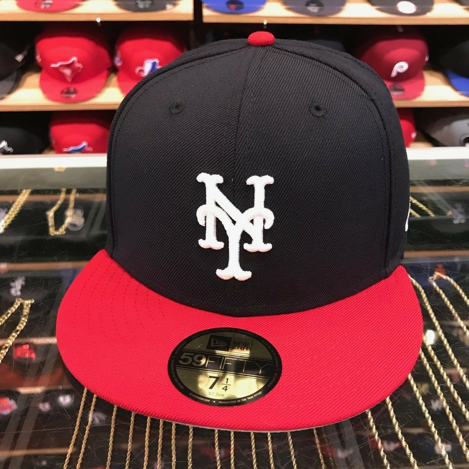 New Era New York Mets of Fitted Hat NAVY/RED/WHITE 4th of Mets July 1fe55a