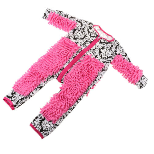 Baby Kleidung Wischmop Strampler Reinigungsmop Overall 85cm Schwarz weiß
