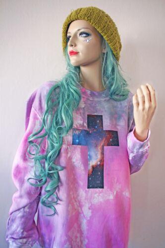 Cross Pastel Dye Tie Oversized Rave Crocifisso Grunge Jumper Space Kawaii Goth T1wqSqd