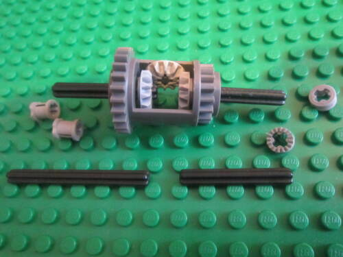 LEGO TECHNIC Grey Differential Gearbox GEARS including 4 Black AXLES