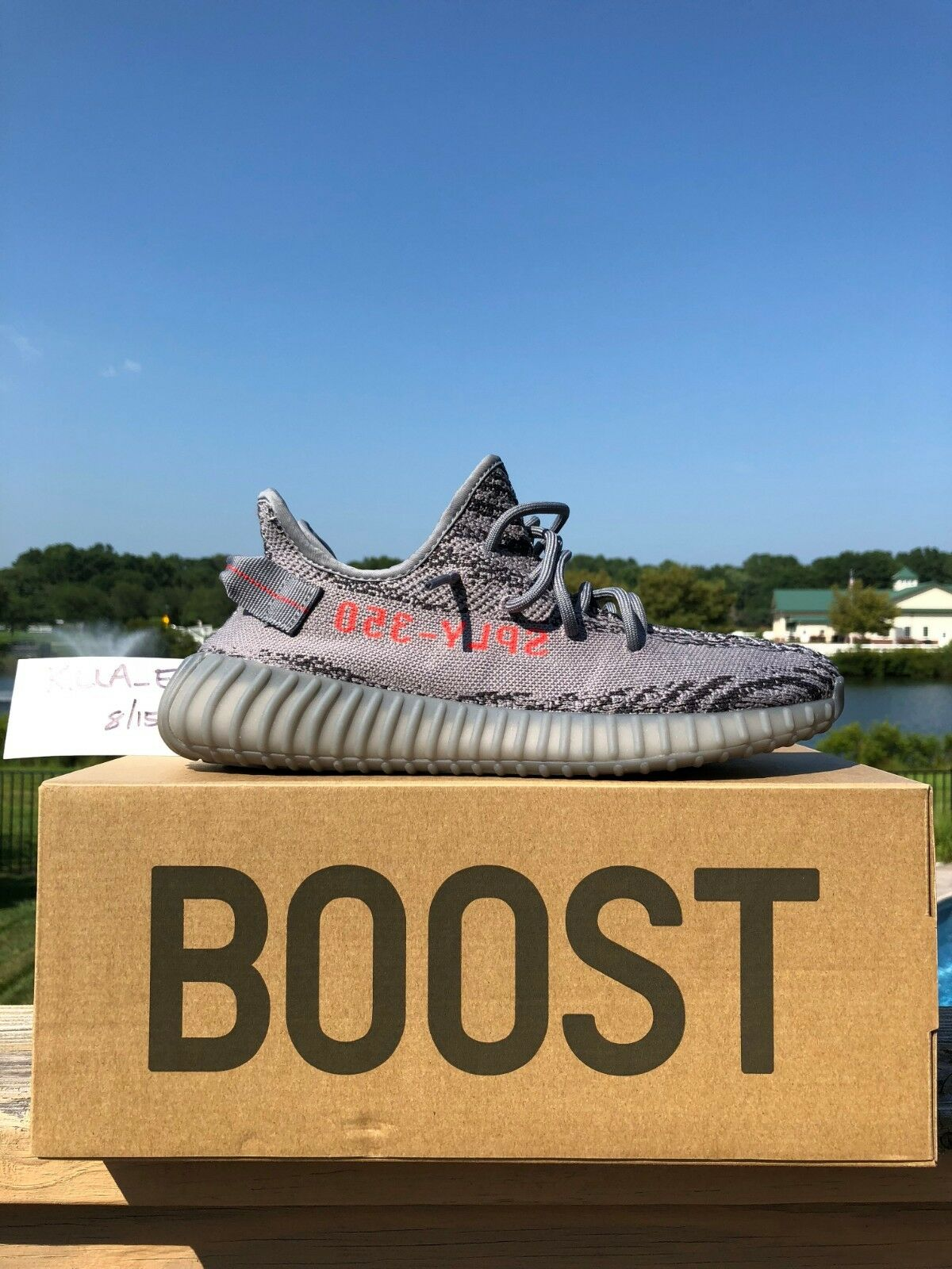 Yeezy Boost 350 V2 Size 9 AH2203 Beluga 2.0's