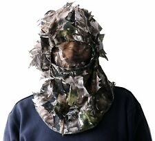 3D Sneaky Hunting/face Mask Woodland Camo Head Net mesh turkey deer MO face