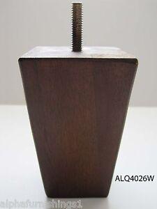 Wood Furniture Leg For Sofa Chair Cabinet 4 Quot Walnut